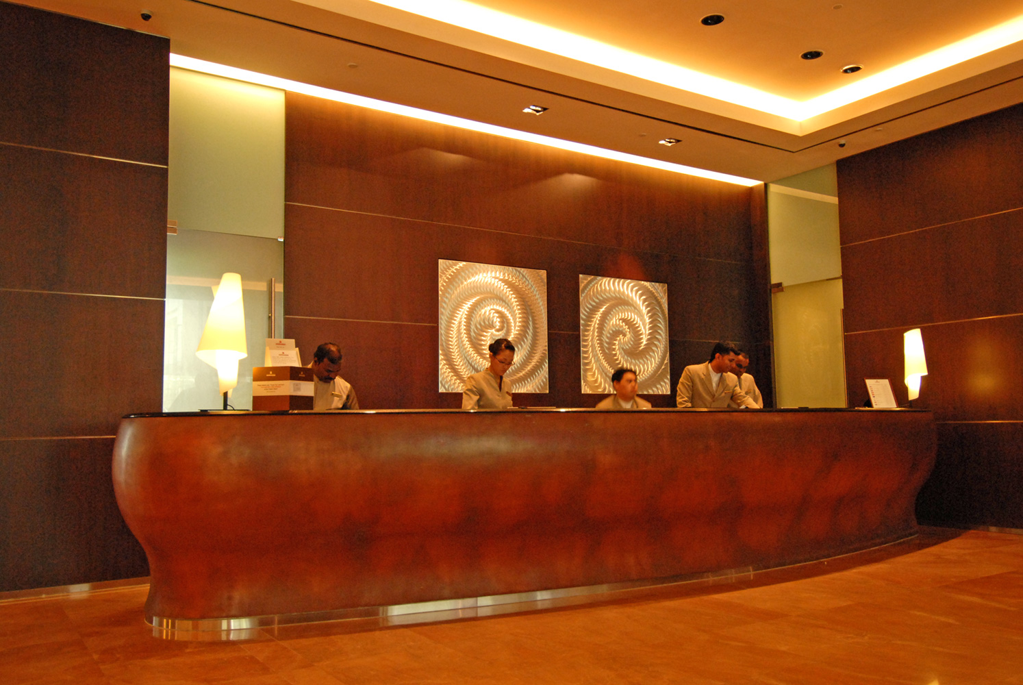 Reception Counter at Traders Hotel Singapore