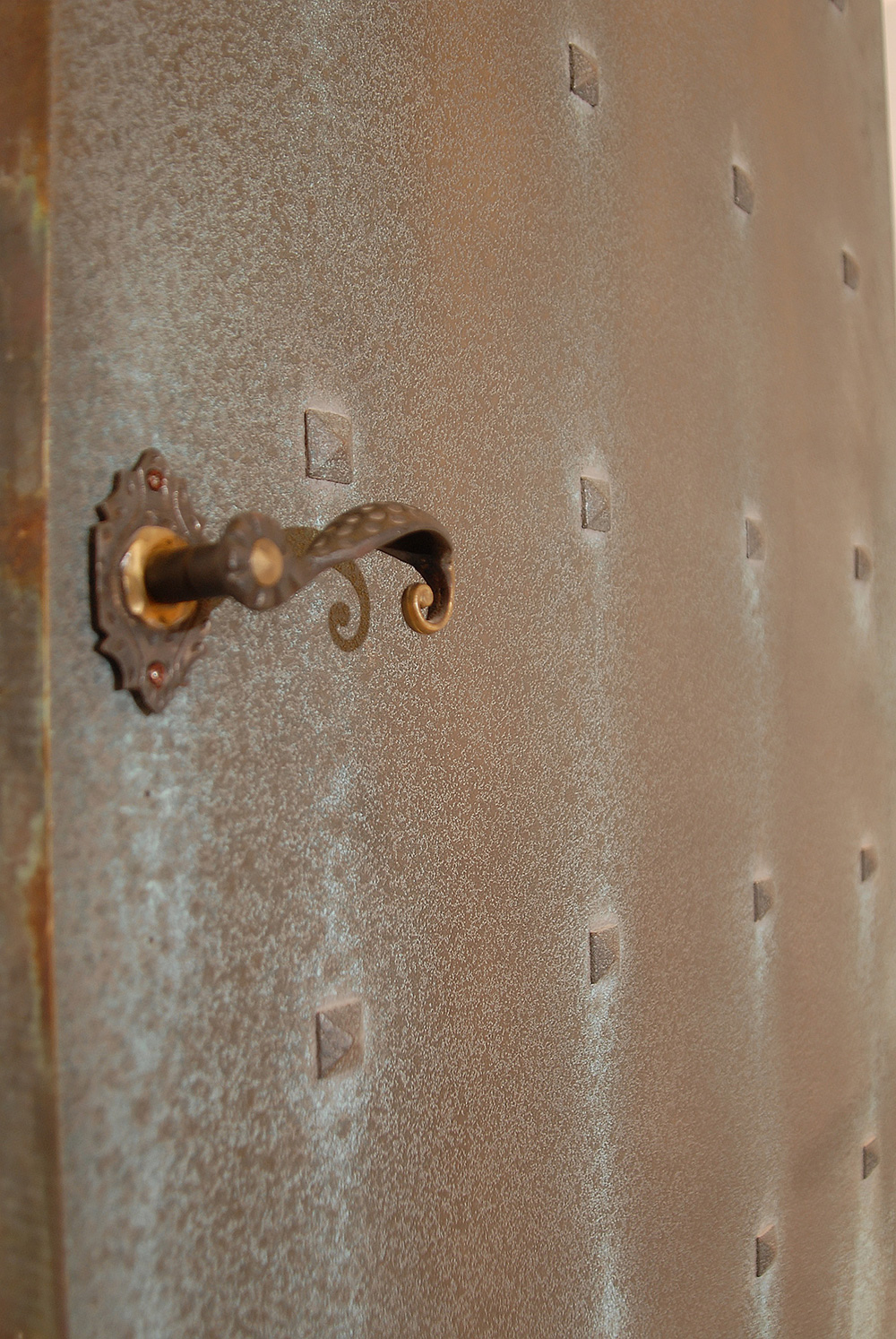 Door finished with Bronze Caste Patina